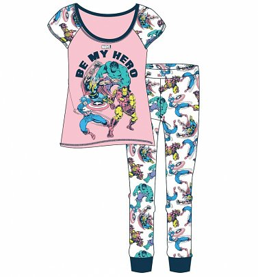 Women's Marvel Be My Hero Pyjama Set