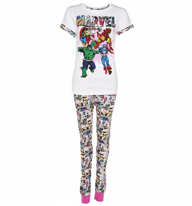Women's Marvel Comics Comic Strip Pyjamas
