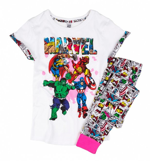 Women S Marvel Comics Comic Strip Pyjamas