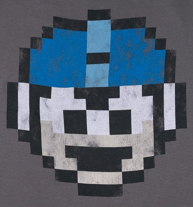 Women's Mega Man 1 Up Charcoal T-Shirt