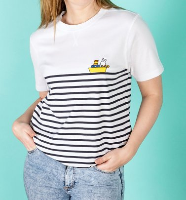 Women's Miffy Embroidered Boat Breton T-Shirt