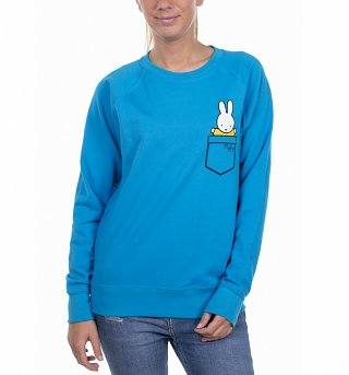 Women's Miffy Printed Pocket Azur Sweater
