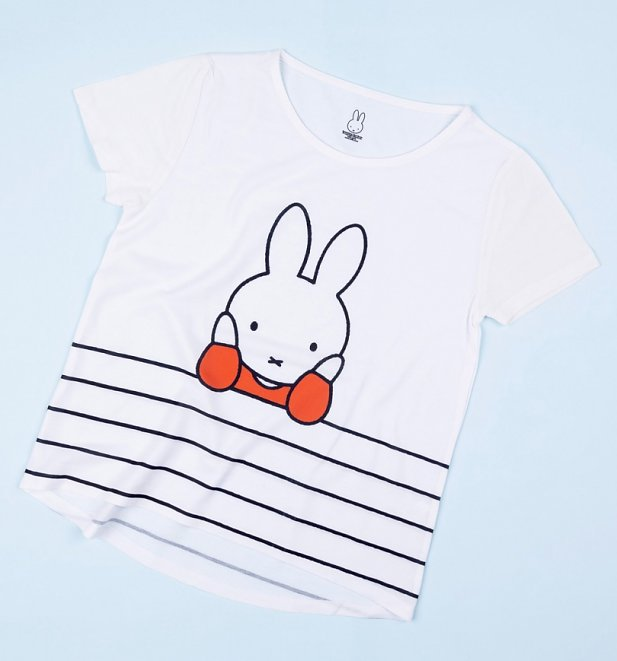 Women's Miffy Stripes Dropped Hem T-Shirt