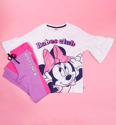 Women's Minnie Mouse Babes Club Pyjama Set
