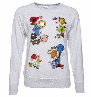 Women's Mr Men and Little Miss Patches Sweater