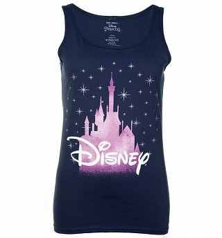 Women's Navy Blue Disney Castle Vest