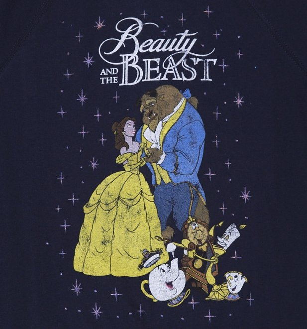 Women's Navy Classic Disney Beauty And The Beast Sweater