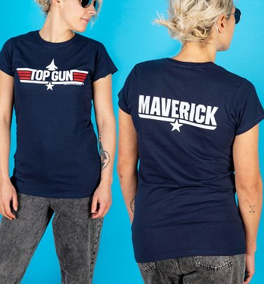 Women's Navy Top Gun Maverick Fitted T-Shirt