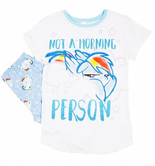 Women's Not A Morning Person Rainbow Dash My Little Pony Pyjamas