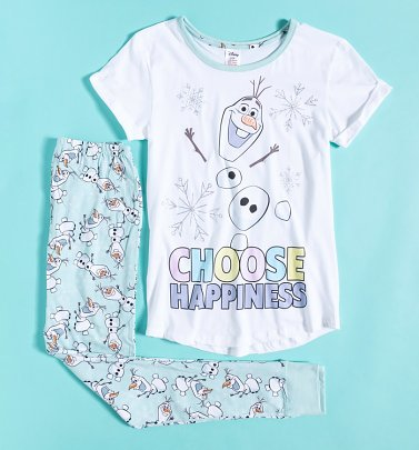 Women's Olaf Frozen Choose Happiness Disney Pyjamas