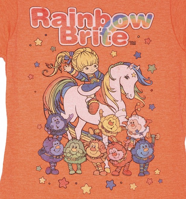 Women's Orange Rainbow Brite And Sprites T-Shirt