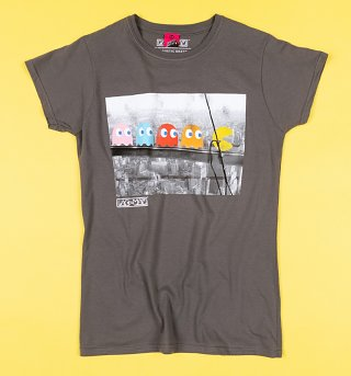 Women's Pac-Man Skyscraper Fitted T-Shirt