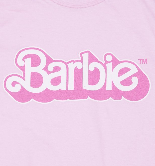Women's Pink Barbie 80's Logo T-Shirt