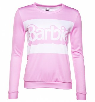 Women's Pink Barbie Stripe Sweater