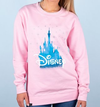 Women's Pink Disney Castle Sweatshirt