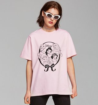Women's Pink Disney Princess Team Oversized T-Shirt from Local Heroes