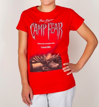 Women's Point Horror Inspired Camp Fear Red T-Shirt