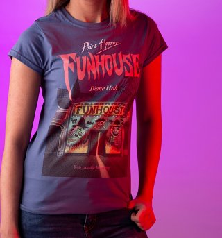Women's Point Horror Inspired Funhouse Indigo Blue T-Shirt