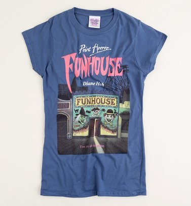 Women's Point Horror Funhouse Indigo Blue T-Shirt