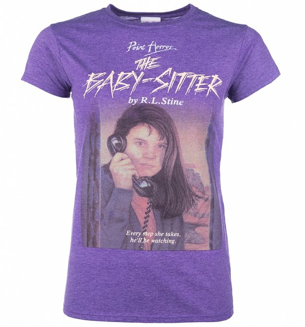 Women's Point Horror Inspired The Babysitter Heather Purple T-Shirt