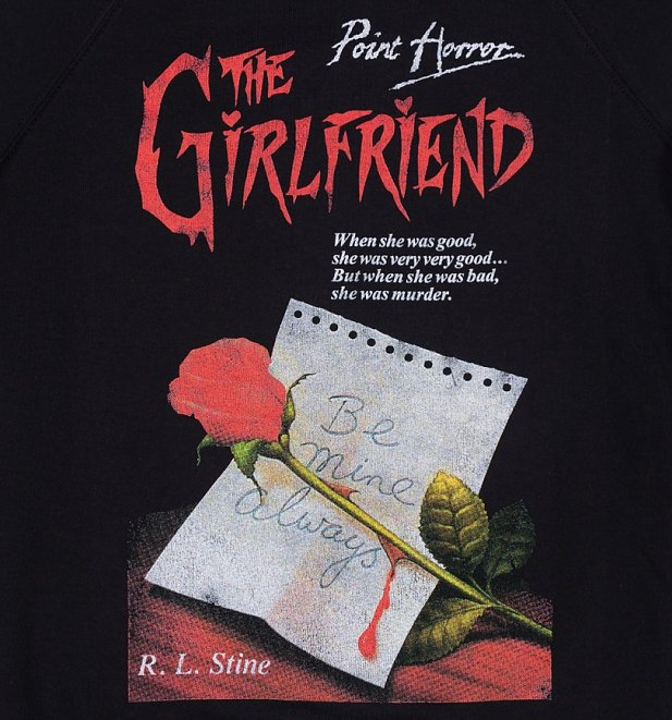Women's Point Horror Inspired The Girlfriend Black Sweater
