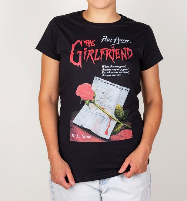 Women's Point Horror Inspired The Girlfriend Black T-Shirt