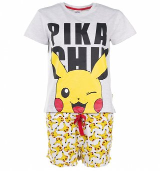 Women's Pokemon Pikachu Shortie Pyjama Set