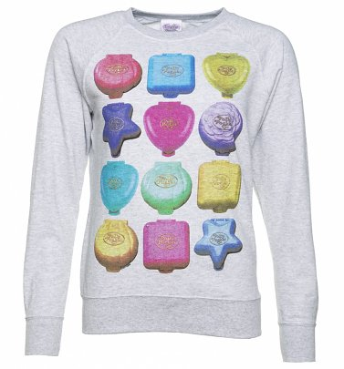 Women's Polly Pocket Playsets Grey Sweater