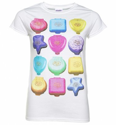 Women's Polly Pocket Playsets White T-Shirt