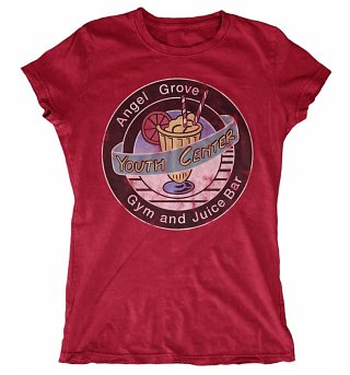Women's Power Rangers Angel Grove Heather Cherry Red T-Shirt