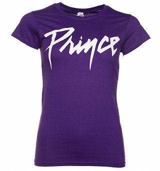 Women's Purple Prince Logo T-Shirt