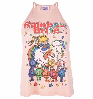 Women's Rainbow Brite And Sprites Flowy High Neck Tank