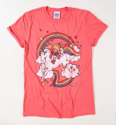 Women's Rainbow Brite Clouds Rolled Sleeve Boyfriend T-Shirt