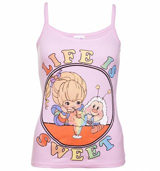 Women's Rainbow Brite Life Is Sweet Light Pink Strappy Vest