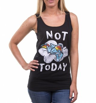 Women's Rainbow Dash Not Today Black Vest