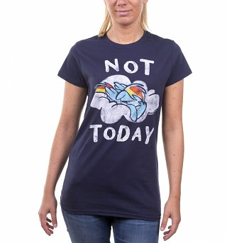 Women's Rainbow Dash Not Today Navy T-Shirt