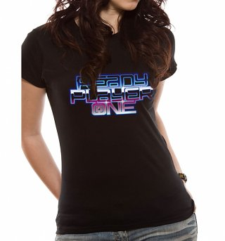 Women's Ready Player One Neon Logo T-Shirt