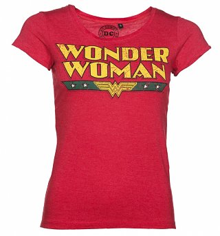 Women's Red Classic Wonder Woman T-Shirt