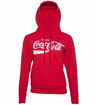 Women's Red Enjoy Coca-Cola Hoodie