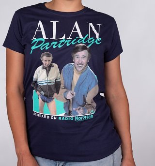 Women's Retro Alan Partridge Navy T-Shirt