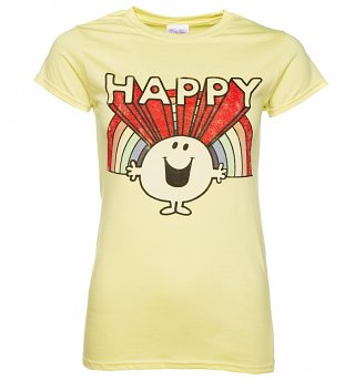Women's Retro Mr Happy T-Shirt