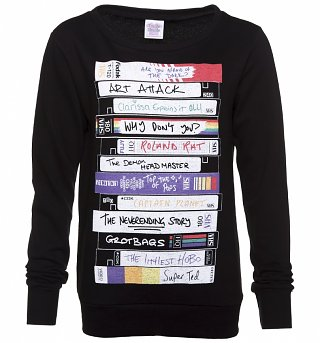 Women's Retro Video Tapes Sweater