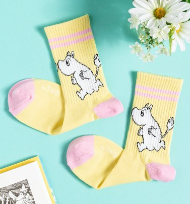 Women's Retro Yellow Moomintroll Socks