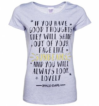 Women's Roald Dahl Good Thoughts Quote Scoop Neck T-Shirt