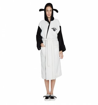 Women's Shaun The Sheep Hooded Dressing Gown With Ears