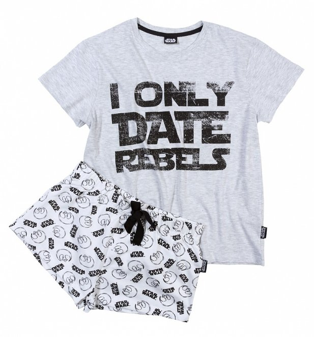 Women's Star Wars I Only Date Rebels Shortie Pyjama Set