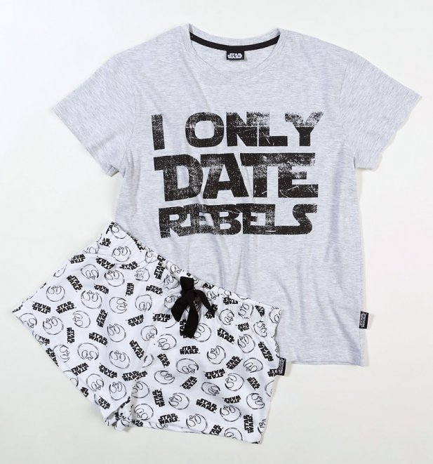 Star Wars I Only Date Rebels Shortie Pyjama Set