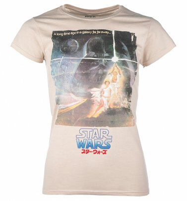 Women's Star Wars Japanese A New Hope Movie Poster T-Shirt