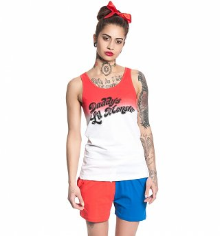 Women's Suicide Squad Daddy's Lil Monster Harley Quinn Shorties Pyjamas