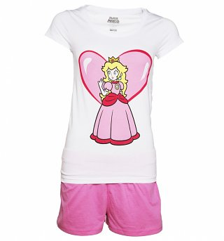 Women's Super Mario Brothers Princess Peach Shortie Pyjamas